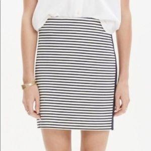 Madewell Eventide striped side zip skirt